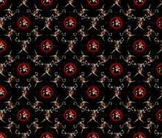 Pirate Skulls fabric by bailoutisland on Spoonflower - custom fabric