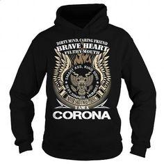 CORONA Last Name, Surname TShirt v1 - #crew neck sweatshirts #best sweatshirt. I WANT THIS => https://www.sunfrog.com/Names/CORONA-Last-Name-Surname-TShirt-v1-Black-Hoodie.html?60505
