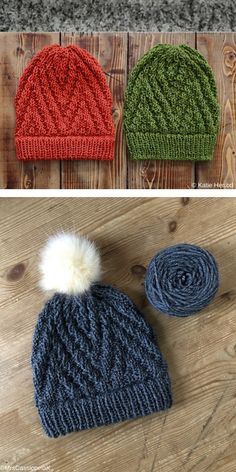 Pompom or without pompom? The different textures make this Spruce Grouse Hat comfortable and cozy with subtle visual interest. There are two brim options: Basic Ribbed Brim and Ribbed Double Brim Baby Knitting Patterns Free Newborn, Beanie Knitting Patterns Free, Beanie Pattern Free, Loom Knitting Projects, Yarn Projects, Lana, Knitted Beanies, Sock Yarn, Knits