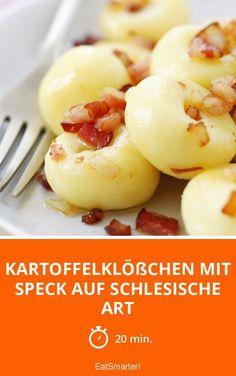 Kartoffelklößchen mit Speck auf schlesische Art - smarter - Zeit: 20 Min.   eatsmarter.de