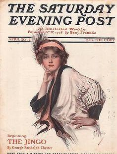 1912 Saturday Evening Post April 20 Cover by Z.P. Nikolaki