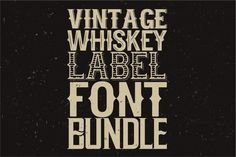 Check out Whiskey fonts BUNDLE! by All-For-Five on Creative Market