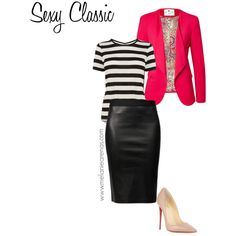 Stripes + leather + bold color