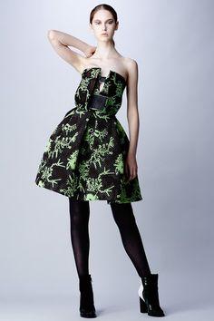 Kenzo // Monster Weaving Jacquard Bustier Dress
