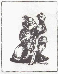 Teenage Mutant Ninja Turtle with katana sword   TMNT