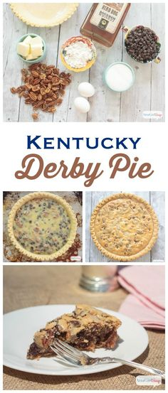A trifecta of chocolate, pecans and bourbon, this Kentucky Derby Pie is the perfect dessert to serve at your Kentucky Derby party. Even if youre not into horse racing, you wont be able to resist a slice of this delicious dessert. (And its amazingly eas Kentucky Derby Pie, Kentucky Food, Bourbon Kentucky, My Old Kentucky Home, Chocolate Bourbon Pecan Pie, Chocolate Pie Recipes, Derby Recipe, Just Desserts, Pie Cake
