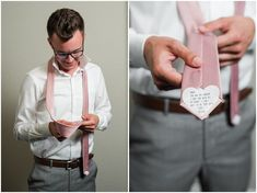 Groom surprised with message on tie | Oak Hills Utah Dusty Rose and Gray Summer Wedding | Jessie and Dallin Photography #utahwedding #utahsummerwedding #summerwedding #mountainwedding #rockymountainwedding #blushandgraywedding #blushandgray #oakhillsutah #utahweddingvenue Groom Ties, Groom And Groomsmen, Strong Marriage, Good Marriage, Blush And Grey Wedding, Wedding Venues Utah, Oak Hill, Photographer Portfolio, Utah Wedding Photographers