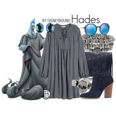 Hades - Could recreate using Roscoe dress pattern or soon-to-be-released pattern from True Bias; wear with sky blue leggings