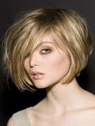 inverted bob with long chunky layers