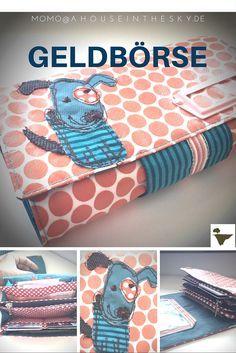 Geldbörse - Geldbeutel - Portemonnaie- Freebook i. Embroidery Patterns Free, Sewing Patterns Free, Free Pattern, Sewing Hacks, Sewing Tutorials, Crochet Simple, Gilet Crochet, Diy Wallet, Diy Couture