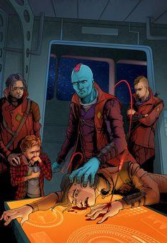 Yondu Udonta, Star Lord (Peter Quill), Kraglin Obfonteri, Tullk Ul-Zyn || Guardians of the Galaxy