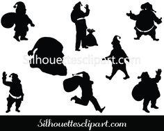 Santa Claus vector graphics pack - Silhouette Clip Art