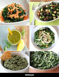 19 recipes featuring kale  gotta try the blueberry and quinoa salad!