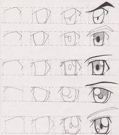 Manga Tutorial, Manga Drawing Tutorials, Drawing Tutorials For Beginners, Sketches Tutorial, Drawing Techniques, Eye Tutorial, Anime Drawings Sketches, Anime Sketch, Easy Drawings
