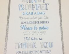 Wedding Candy Buffet Welcome Sign Candy Bar by SweetLoveCandy
