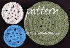 Star Scrubbie and Washcloth PATTERN Coaster Hotpad Doily (scheduled via http://www.tailwindapp.com?utm_source=pinterest&utm_medium=twpin)
