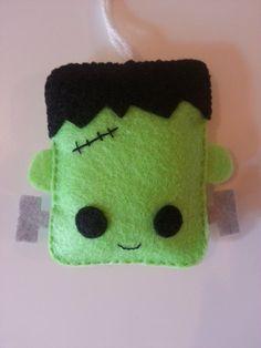 Halloween Ornament Felt Frankenstein by Crossyourheartstitch