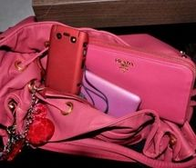 bag, blue, fashion, handbag, prada -