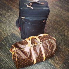 The perfect travel gear; Louis Vuitton Keepall 55 and a carry on roller bag. Bags are packed @Alt Summit SLC 2014 here I come!!  The JetSetting Fashionista   www.JSFashionista.com  