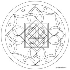 Free Printable Mandala Coloring Pages | Each image prints on one sheet of letter size paper.