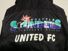 VTG RARE Men's Nike Seattle Sounders FC logo jacket Soccer Pre MLS 1990s old  #Nike #SeattleSoundersFC