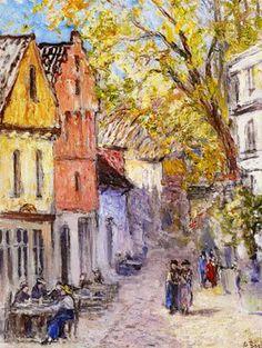 Anna Boch   Corner of old Brussels, 1935