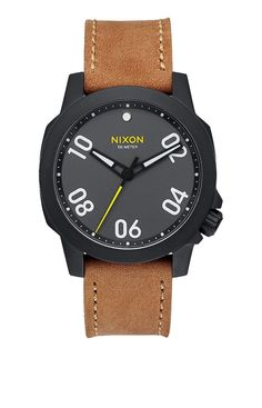 Reloj/Watch/Mens Nixon Ranger 40 Leather Black /Gunmetal/Natural Strret Urban
