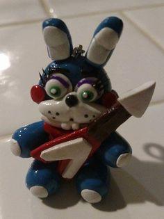 Toy Bonnie with guitar Charm fnaf Five Nights at by MorsbaneGoods Sister Location, Markiplier, Five Nights At Freddy's, Fnaf, Youtubers, Smurfs, Guitar, Fandom, Charmed