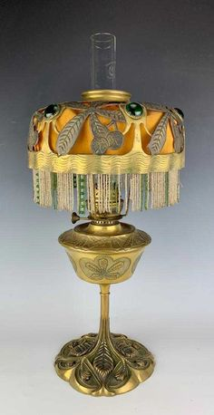 French Art Nouveau Lamp Sgd Leleu C. 1900 - 4