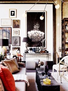 6 Things Every Stylish Person Has At Home// gallery wall, modern lighting