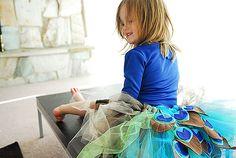 Precioso disfraz casero para niñas. Perfecto para el Carnaval 2012.