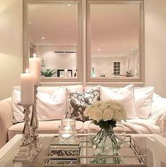 Aug Everyone loves that relaxed time in their comfortable living room. These are our best inspirations for amazing Living Rooms! See more ideas about Living room decor, Living room designs and Modern lounge. Cozy Living Rooms, Home Living Room, Living Room Designs, Living Room Decor, Living Spaces, Small Living, Mirrors In Living Room, Living Room White, Apartment Living