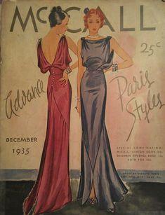 Vintage 1935 Art Deco McCall Counter Pattern by misshelenes Vintage Dress Patterns, Vintage Dresses, Vintage Outfits, Wedding Dress Sewing Patterns, Vintage Clothing, 1930s Fashion, Retro Fashion, Vintage Fashion, Mode Hollywood