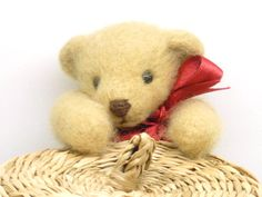 Artist Bear Miniature Teddy Jointed Collectable by HazelwoodCrafts