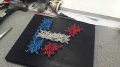 Twenty One Pilots string art.except i'd do white paint and then black string