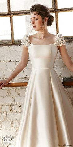 featuring - chana marelus fall 2019 bridal embellished cap sleeves scoop neck a line ball gown wedding dress 7 clean modern princess romantic zv - Chana Marelus Fall Winter 2019 Wedding Dresses Wedding Dresses For Maids, Lace Beach Wedding Dress, Princess Wedding Dresses, Elegant Wedding Dress, Bridal Dresses, Bridesmaid Dresses, Lace Dress, Gown Wedding, Wedding Ceremony