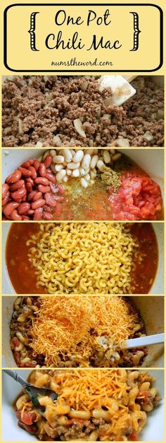 One Pot Chili Mac Recipe - via Num's The Word - If you love 30 minute meals that require ONE POT for clean up, then you MUST try this easy and hearty One Pot Chili Mac. A good home cooked weeknight meal! - The BEST 30 Minute Meals Recipes - Easy, Quick and Delicious Family Friendly Lunch and Dinner Ideas