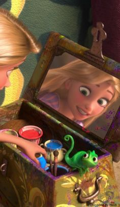 Rapunzel and cute lil& Pascal :) - Tangled - Disney Princess Rapunzel, Disney Tangled, Disney Art, Pascal Tangled, Disney Princesses, Disney Phone Wallpaper, Cartoon Wallpaper, Disney Animated Movies, Disney Movies