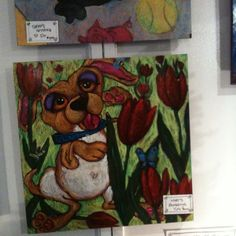 Local artist- does animals that look crazy & whimsical.