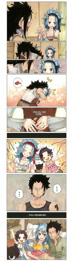 Gajeel x Levy this one always makes me tear up