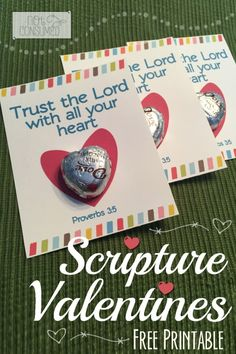 Looking for an opportunity to share God's Word and encourage Christian growth? These FREE scripture valentines printables are a perfect fit. Simply print, cut, and tape on the candy and you're done! Perfect for busy families! Women's Retreat, Perfect Fit, Valentine Ideas, Valentines Day, Opportunity, Families, Tape, Valentines Diy, Valentine's Day