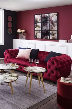 Zweisitzer Sofa, Pink, Chair Pads, Living Room, Pink Hair, Roses