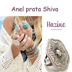 O anel prata Shiva tem inspiração nos costumes e nas tradições Hindus, com uma simbologia cheia de mistérios. Esse anel é a celebração máxima do conceito de acessórios hippies. Seu formato floral vai deixar você em harmonia com a natureza, além de render muitos olhares e elogios! #hazinetop #hazineacessorios #boho #bohochic #bohostyle #gypsy #gypsystyle #mood #acessorios #bohemianchic #rings #earrings #anel #maxianel #bohemianstyle #gargantilha #colar #pulseira #bracelete #tornozeleira…
