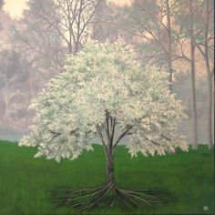 ARTFINDER: Benaithe by Anthony Lusignan - Benaithe means sacred or blessed in Gaelic. Trees, being beautiful and life giving, have always been used as symbols of strength and spirit. Symbols Of Strength, Tree Of Life, Oil Painting On Canvas, Saatchi Art, Original Paintings, My Arts, Landscape, Flowers, Plants