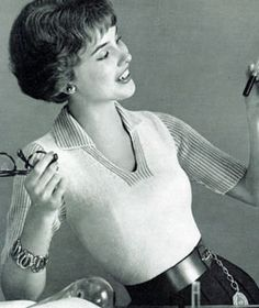 pullover - free pattern originally published in the Botany College Hand Knits, Volume II, in 1958