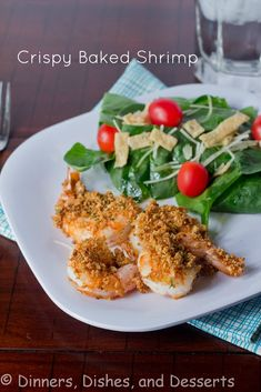 Crispy Baked Shrimp Recipe - a quick and healthy protein dish