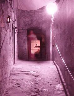 A picture taken at the doorway at the top of Mary King's Close, an underground street in Edinburgh, Scotland. It was captured by employee Stephen Spencer.