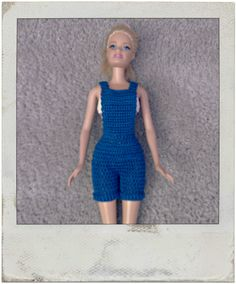 Crochet - Barbie's Bib Overall Shorts