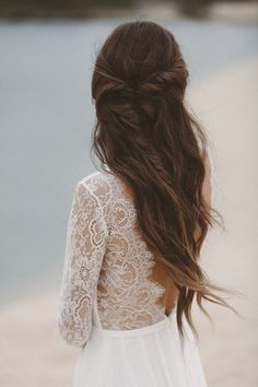 34 beautiful braided wedding hairstyles for the modern bride - love hair -. - 34 beautiful braided wedding hairstyles for the modern bride – love hair – 34 beautiful braided - Lace Bridal, Braided Hairstyles For Wedding, Chic Hairstyles, Dress Hairstyles, Hairstyles 2016, Hairstyle Ideas, Bride Hairstyles Down, Fairy Hairstyles, Simple Bridal Hairstyle