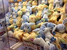 Pokemon Photos from Tokyo - I Love Eevee DX Leafeon Glaceon plush dolls claw machine